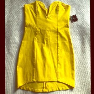 Nasty Gal | Bright Yellow Summer Mini Dress